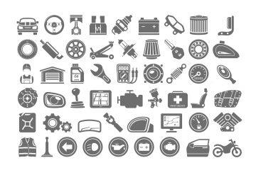 Ikonki części motoryzacyjne