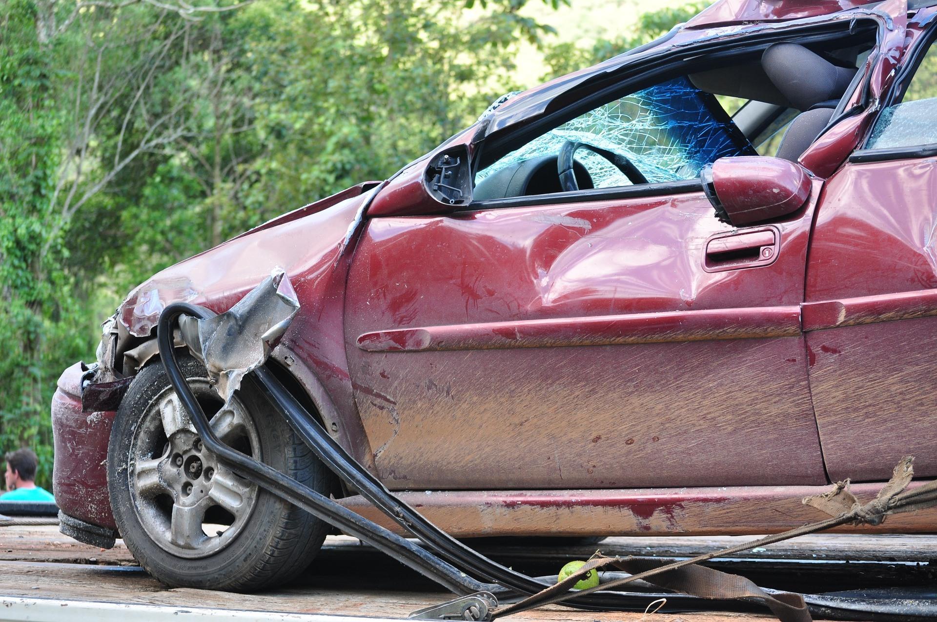 Auto uszkodzone w wypadku